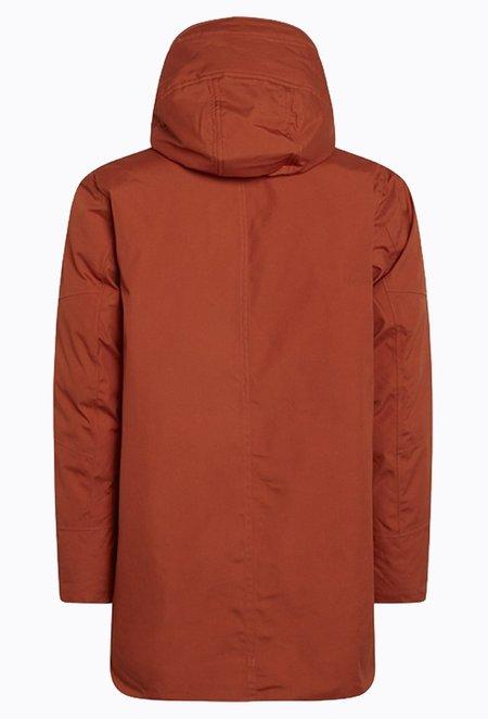 Knowledge Cotton ARCTIC Canvas Parka Jacket - Rust