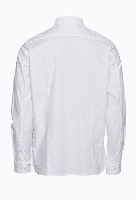 Knowledge Cotton ELDER Small Owl Oxford Shirt - Bright White