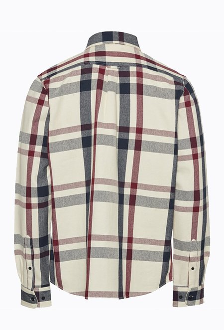 Knowledge Cotton PINE Checked Overshirt - Total Eclipse
