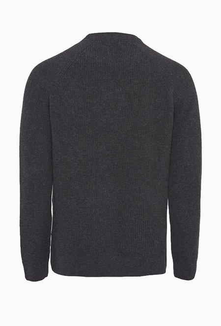 Knowledge Cotton VALLEY Crewneck Knit - Dark Grey Melange