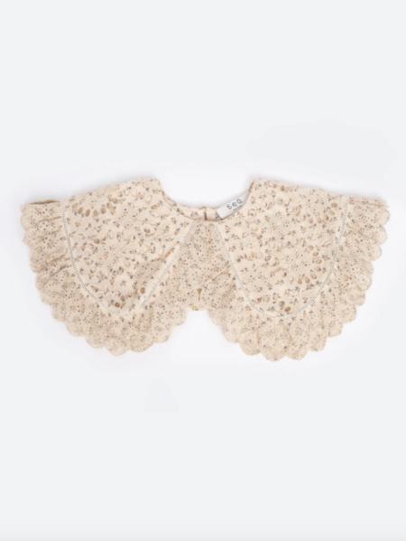Sea Embroidered Collar - Cream