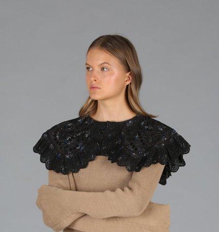 Sea Embroidered Collar - Black