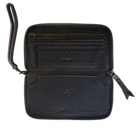 Embrazio Wendy Leather Wristlet Wallet - Coffee