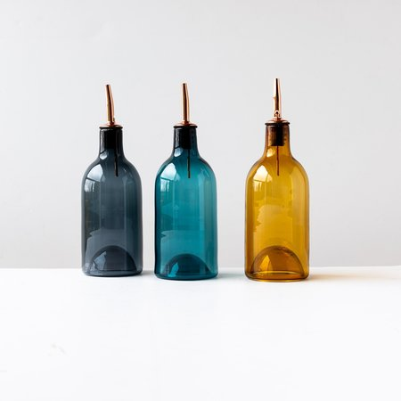 A + J Métissage Hand-blown Glass Oil / Vinegar Dispenser