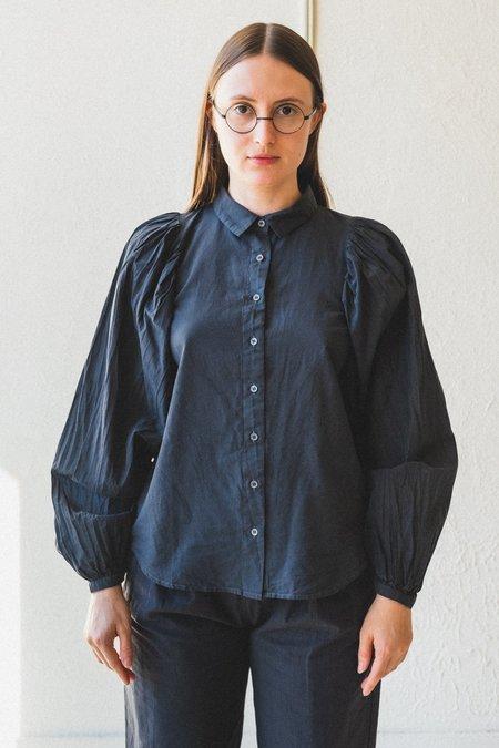 Caron Callahan Alastair Cotton Shirt - Charcoal Batiste