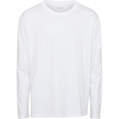knowledge cotton apparel Walnut heavy organic cotton long sleeve - white
