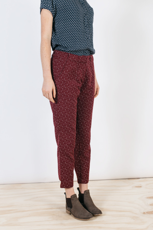 Bridge & Burn Ellis Burgundy Stripe