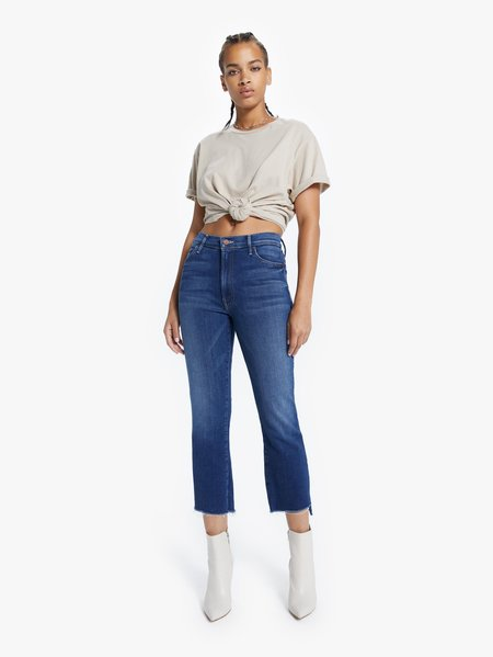 Mother Denim The Insider Crop Step Fray Jeans - Sweet and Sassy