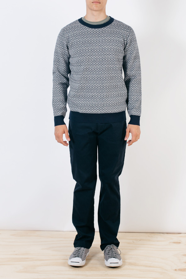 Men's Barque Crosshatch Sweater Navy