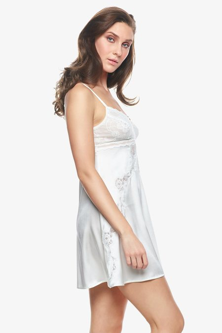 NK IMODE Sigrid Bust-Support Chemise - Pearl White