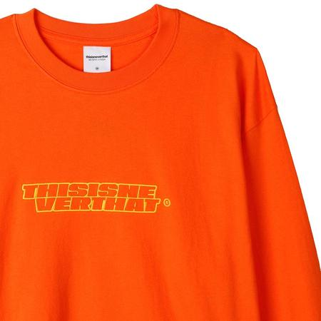 thisisneverthat BS-Logo Long Sleeve T-shirt - Orange