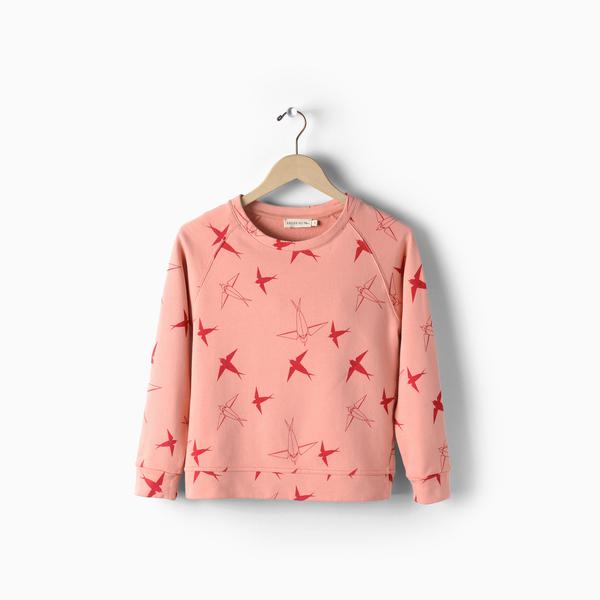 Andorine Pink Printed Sweat