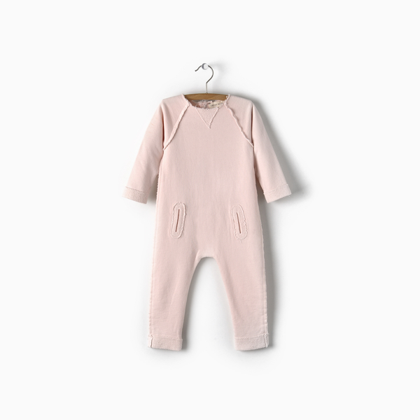 Andorine Pink Fleece Jumpsuit
