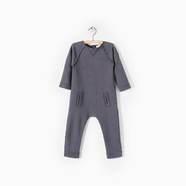 Andorine Grey Fleece Jumpsuit