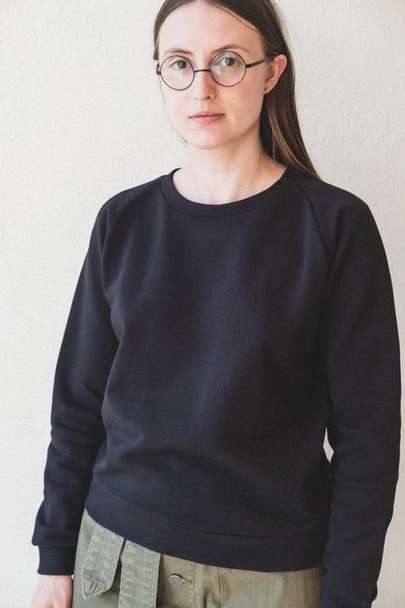 Baserange Italian Fleece Basic Sweatshirt - Black