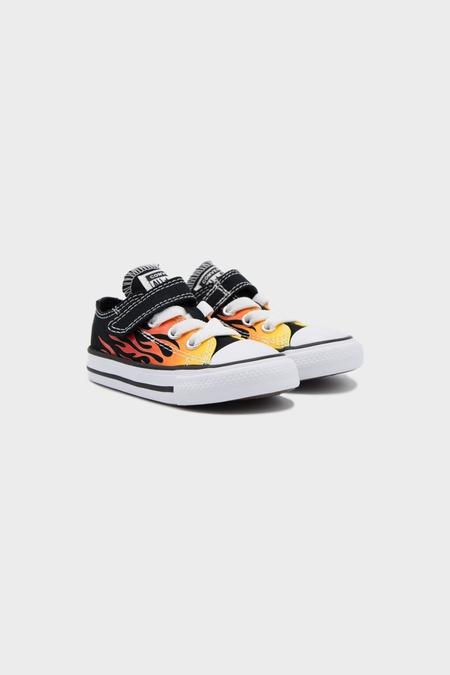Kids Converse All Stars OX Sneaker - Black Enamel