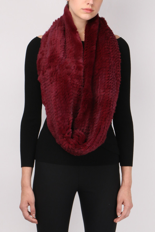 Jocelyn Fur Sheared Rabbit Infinity Scarf