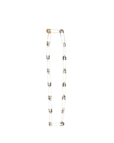 AMBUSH Safety Pin Necklace - Silver