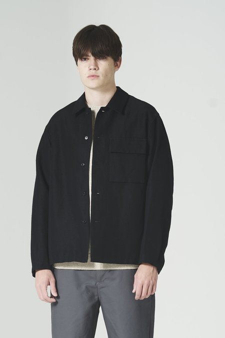 Still By Hand Flap Pocket Relaxed Blouson - Black