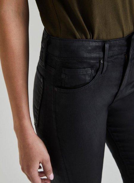 Adriano Goldschmied Farrah Skinny Ankle Jeans - Leatherette Super Black