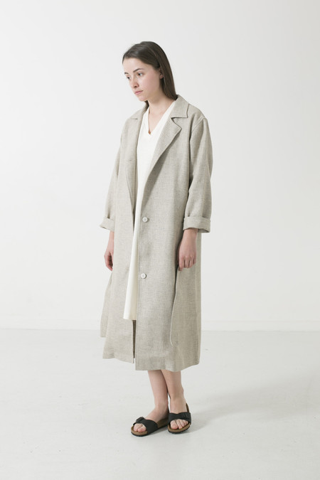 GOOD STUDIOS WOMENS LTD EDTN HEMP/YAK/WOOL TWEED DUSTER