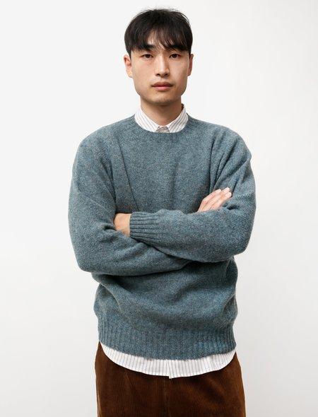 Neighbour Pure Shetland Wool Sweater - Graphite Green
