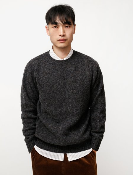 Neighbour Pure Shetland Wool Sweater - Smoulder