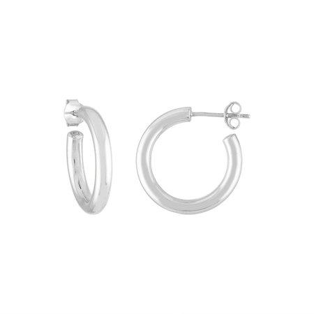 Machete mini hoops - sterling silver
