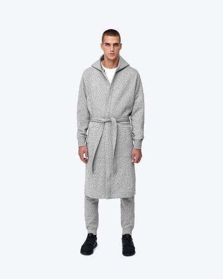 Midnight Blue tiger fleece hooded robe - black