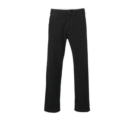 Portuguese Flannel Denim Trousers - Black