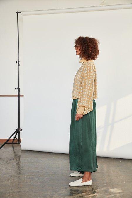RUJUTA SHETH Wide Leg Pants - Emerald