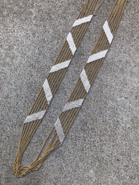 Hannah Keefe Stripes zig zag Necklace