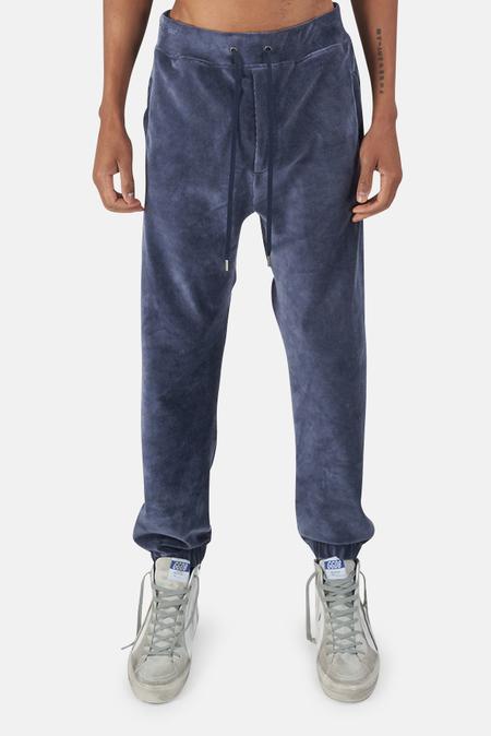 Wheelers.V Bowery Velour Cord Pants - Midnight Blue
