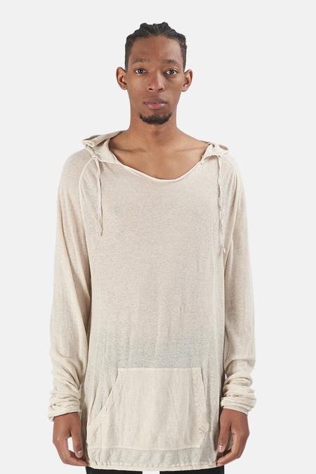 V::ROOM Cotton Linen Pullover Hoodie - Tan