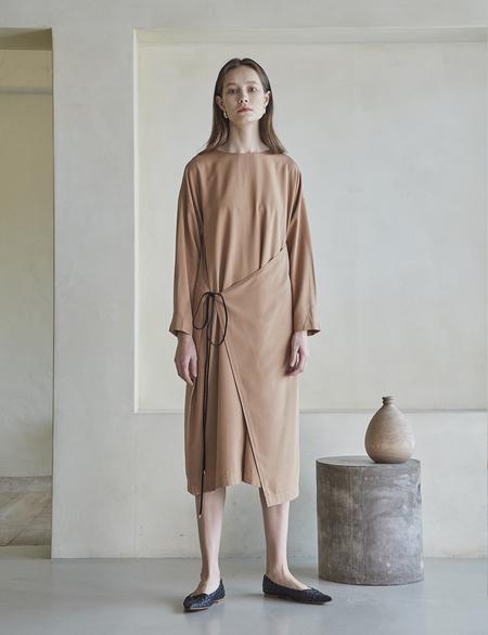 Maison De Ines Front Strap Wrap Dress - Brown