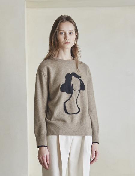 Maison De Ines Round Croquis Sweater - Brown