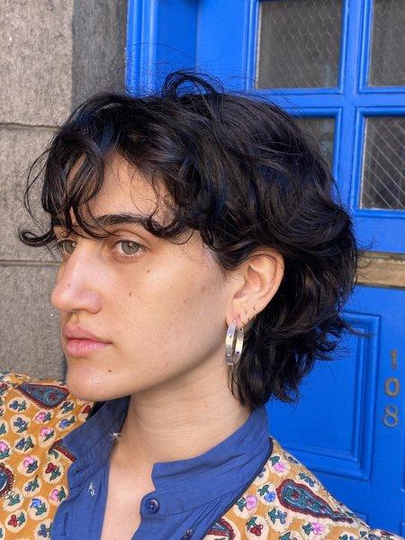Asia Ingalls Silver Star Hoop Earrings - Sterling silver