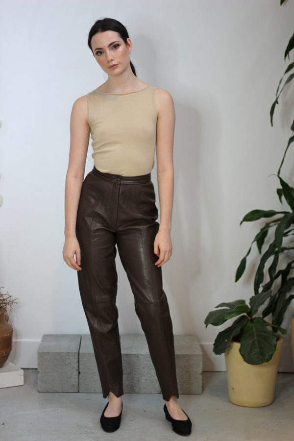 Hey Jude Vintage Leather Trousers