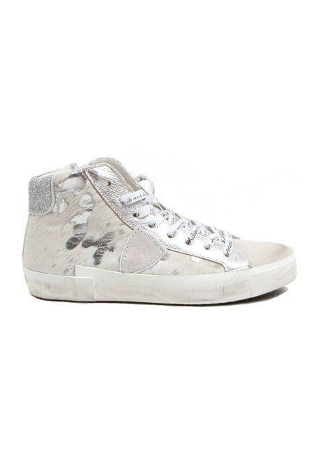 Philippe Model Daim Acide Sneaker - White/Silver