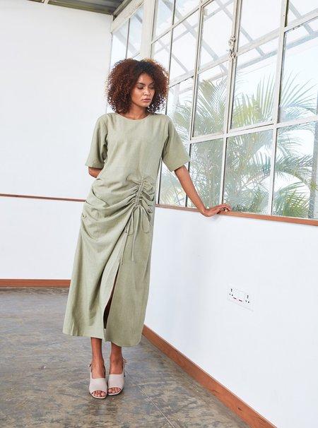 RUJUTA SHETH Drawstring Dress - Jade Green