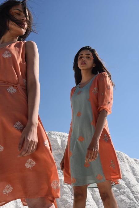 Kapraha Back Waist-tie Dress - Multi