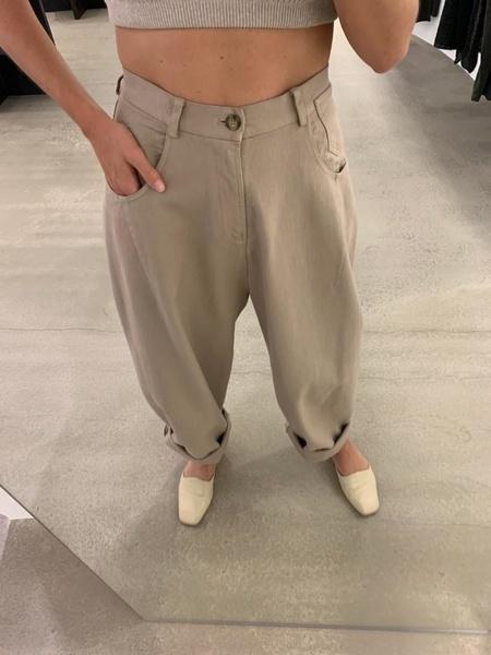Monica Cordera Button Front Pants - Nomad