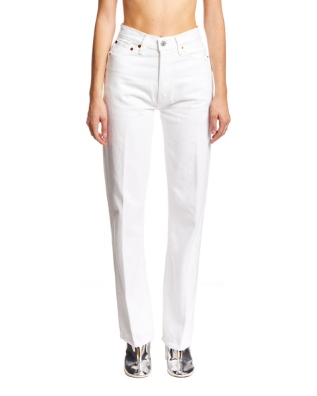 RE/DONE 70s Stove Pipe Jeans - White