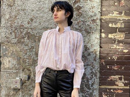 Alix of Bohemia Kiki Shirt - Lavender Herringbone