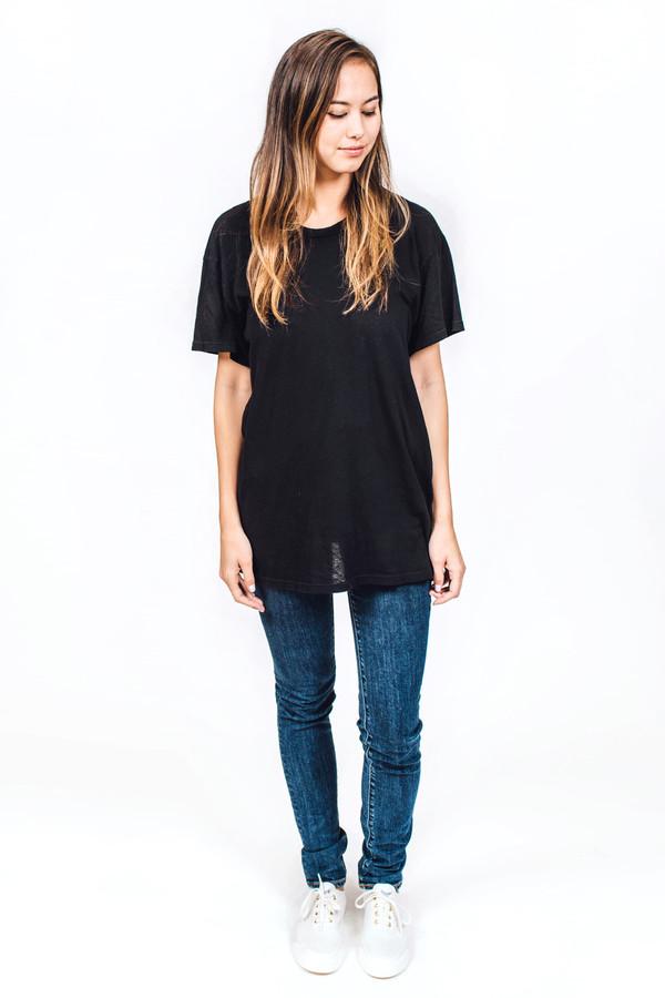 Lacausa Vintage Tall T Black
