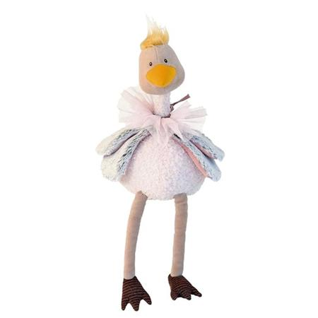 KIDS Moulin Roty Le Roty Moulin Bazar Petunia The Ostrich Soft Toy - PINK