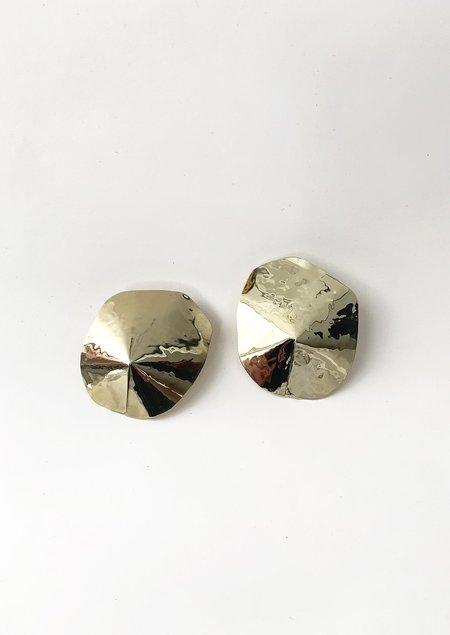 JULIE THÉVENOT ARAPED SMALL EARRINGS - Gold Brass/ Sterling Silver
