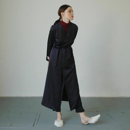 Nikki Chasin Moretti Belted Robe - Navy