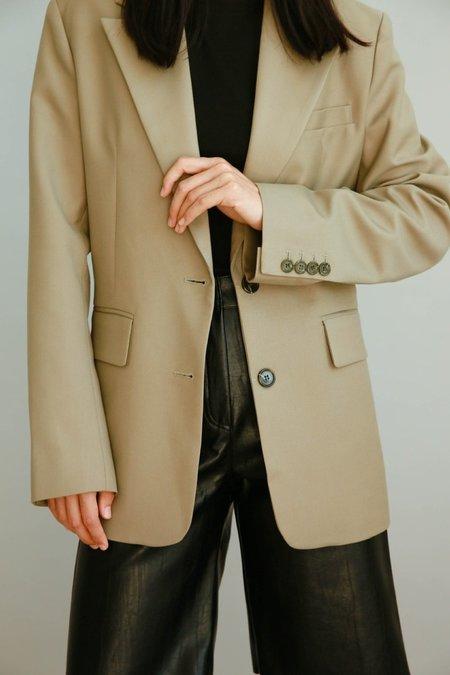 JOWA. Cafe noir Hidden String Blazer - Khaki