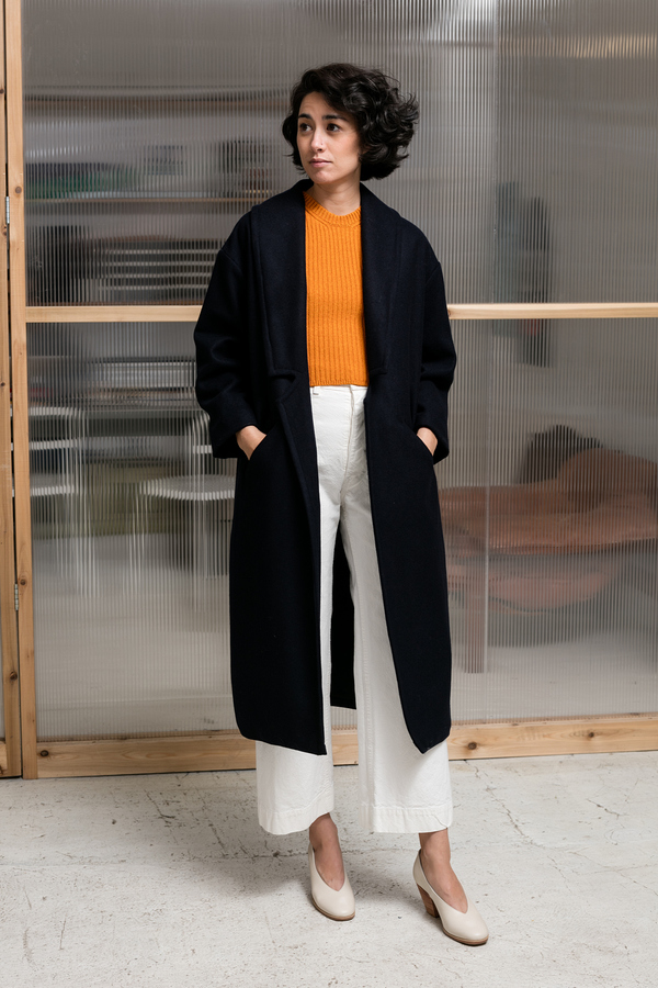 Objects Without Meaning Long Robe Coat - navy